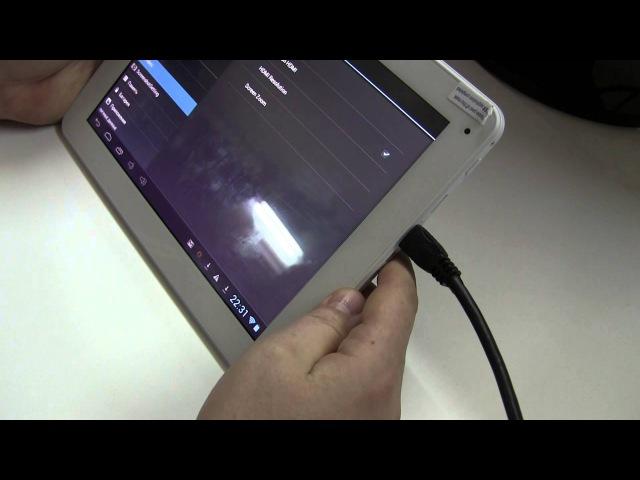 Подключение планшета через HDMI кабель