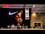 Anthony Pomponio (85) - 154kg Snatch + 185kg Clean and Jerk @ 2015 USAW Nationals