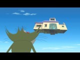 Огги и Тараканы - Летающий Дом (Airship House/La maison dirigeable) 4-202