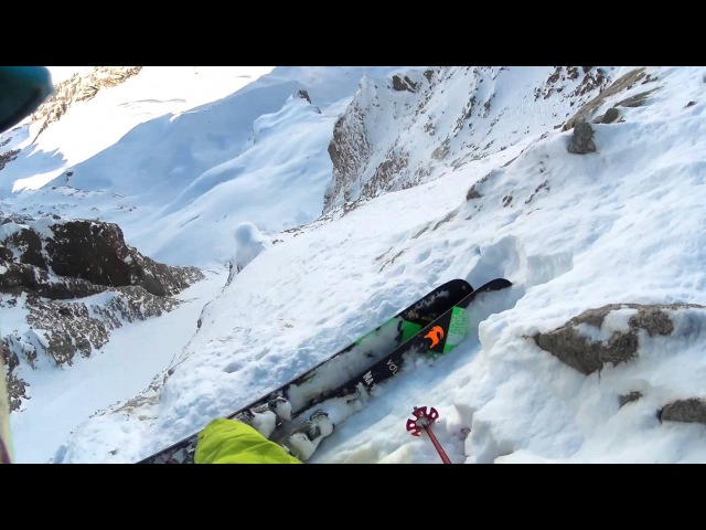 """Ian McIntosh Skis the """"Y"""" Couloir in La Grave France: Behind the Line Season 7 Episode 1"""