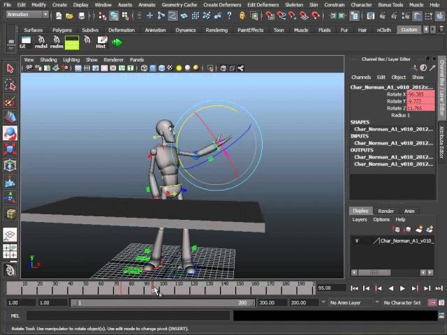 Переключение IK и FK контроллеров в анимации персонажей