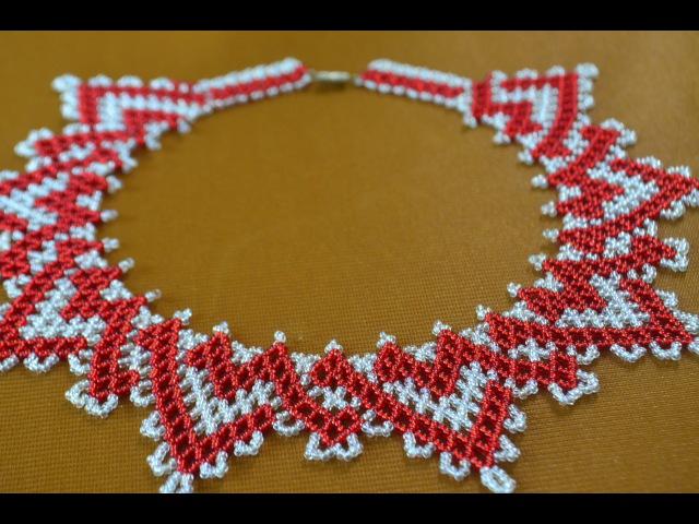 Колье из бисера Кармелита Мастер класс Necklaces of beads Beading