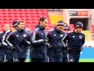 Игроки сборной России по футболу готовятся к матчу с командой Португалии - Первый канал