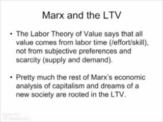 an introduction to the labour theory of value and the marginal theory of value