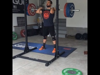 "Ben Smith on Instagram: ""Front Squat singles today in the Garage. 335, 355, 375, 400 #CrossFit @reebok @roguefitness @progenex @perfectbar"""