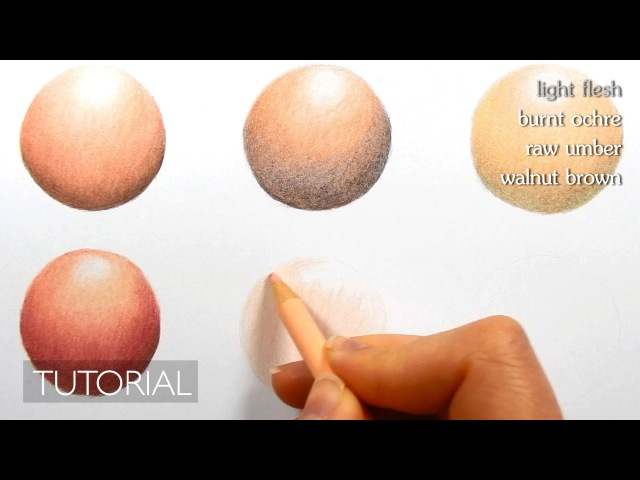 How to color, blend different skin tones with colored pencils | blending techniques