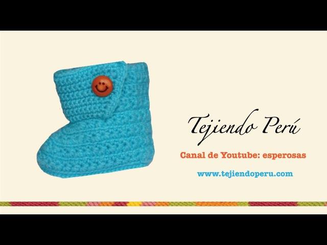 Botitas en crochet para bebe de 0 a 3 meses (Parte 3: solapa)