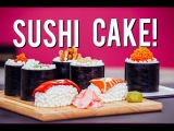 How to Make SUSHI CAKE! Chocolate Jelly Roll Sponge, Ginger Infused Buttercream &amp Candy Toppings!