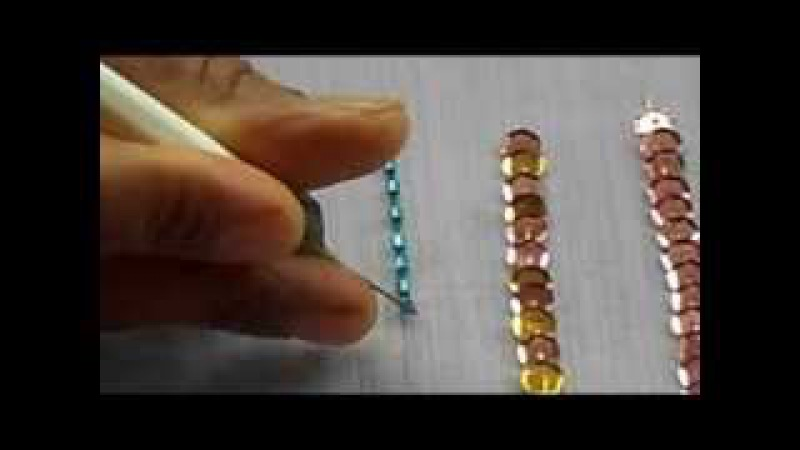 AARI TAMBOUR MAGGAM EMBROIDERY how to sew bugle bead with a aari needle