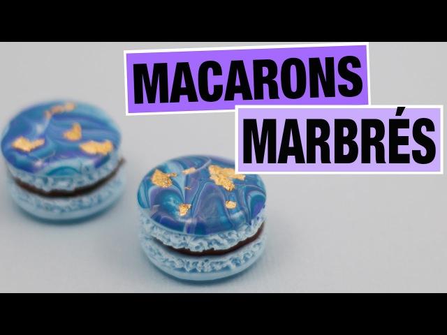 Macarons Marbrés⎪Fimo et Vernis à Ongles.