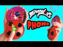 Miraculous Ladybug Compact Caller Phone Make Send Calls to Friends Unboxing Toy Caboodle