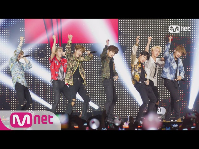 [KCON 2016 France×M COUNTDOWN] BTS(방탄소년단) _ What am I to you (INTRO) DOPE(쩔어) M COUNTDOWN 160614 E