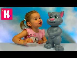 Новое видео Мисс Кейти - Кот Том говорящая интерактивная игрушка из компьютерной игры Tom Cat funny toy unboxing