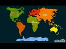 7 Continents of the World Geography for Kids Educational Videos by Mocomi