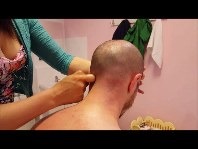 Chinese Girl powerful Head Massage - ASMR video