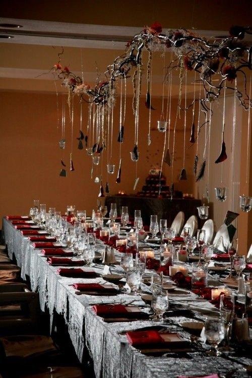 Оформление свадебного зала готика