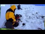Ловля налима зимой, подводная съёмка