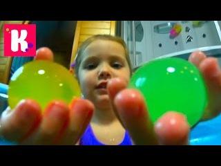 Орбиз бассейн с гигантскими шариками сюрпризы игрушки и лизуны Giant ORBEEZ pool Challenge