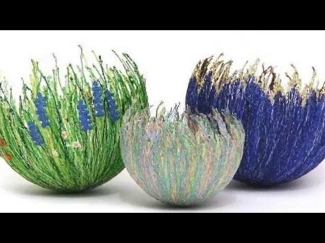 Крейзи вул. Вазы. Crazy Wool. Vases.
