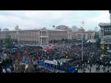 Гимн Украины 1 декабря. Киевский майдан