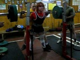 Julia Zaugolova squat 440 lbs without wraps and suit