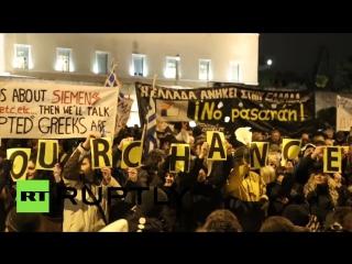 В Афинах прошел многотысячный митинг против политики Германии