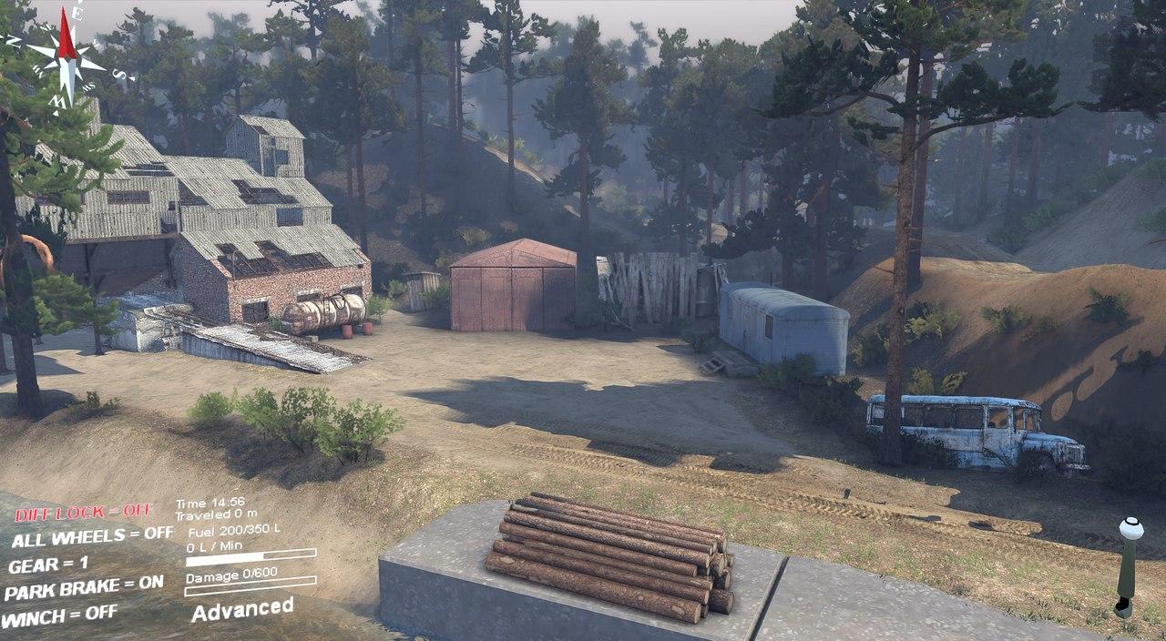"Карта ""Green Plains"" для 23.10.15 & 8.11.15 для Spintires - Скриншот 3"