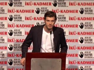 Март,2012 год. Выступление Кыванча в защиту женщин от насилия в рамках кампании