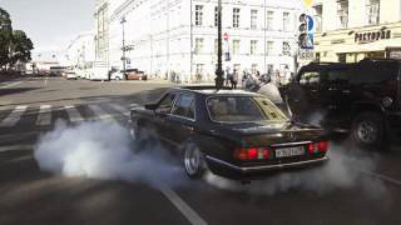 Старый, но бодрый W126. Mercedes - на что он способен!