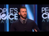 The People's Choice for Favorite Action Movie Actor is Chris Evans E! People's Choice Awards