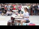 Японская юная барабанщица. Как играет, япона мама! )