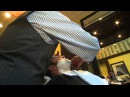 Nick Swisher kicks off Movember with a Royal Shave at The Art of Shaving!
