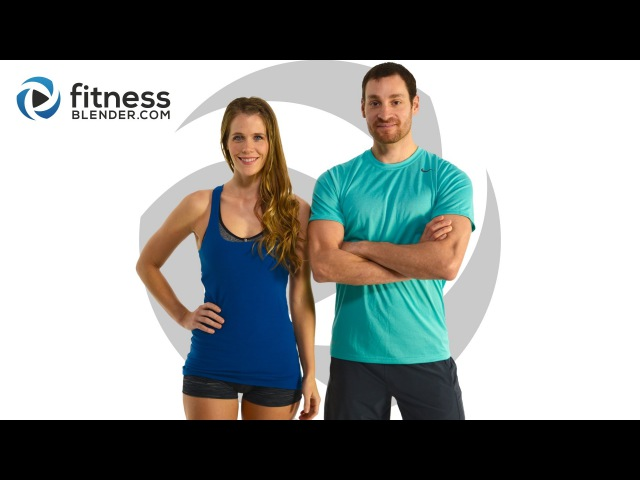 FitnessBlender - Day 3. 5 Day Challenge Strong and Lean. Brutal HIIT Cardio Abs Workout Pilates Burnout