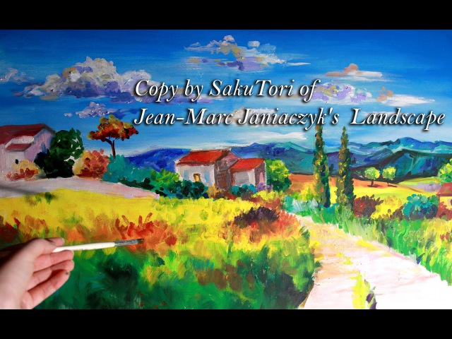 Speed Painting Copy by SakuTori of Jean-Marc Janiaczyk's Landscape