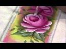 15/03/2013 Luciano Menezes - Pintura em tecido rosas parte 2