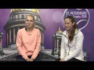 Elena Vesnina and Daria Kasatkina