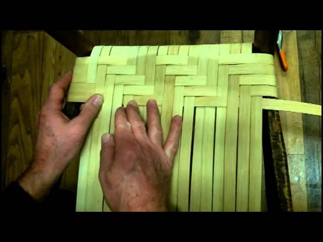 How to Weave a Splint Seat in Herringbone Pattern Using Flat Reed