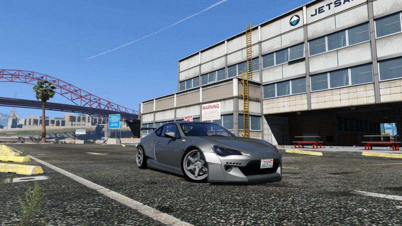 Rocket Bunny Toyota GT-86 1.5 для GTA V - Скриншот 1