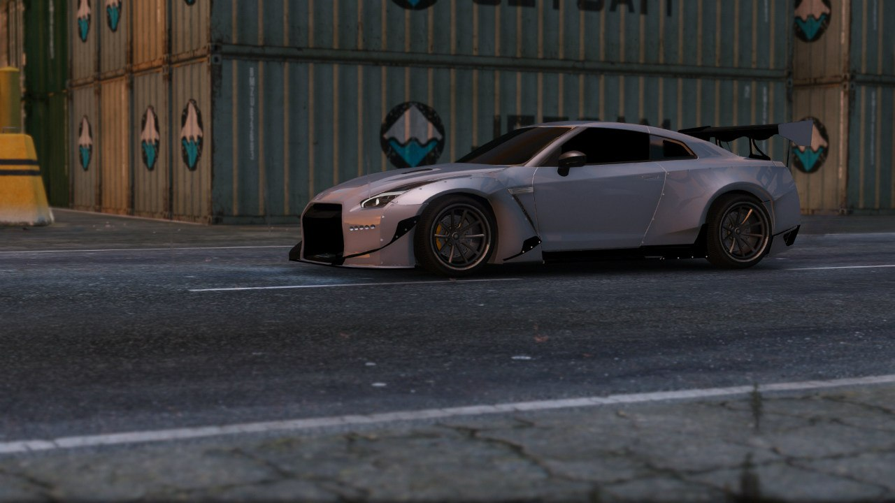Nissan GT-R R35 [RocketBunny] v1.1 для GTA V - Скриншот 2