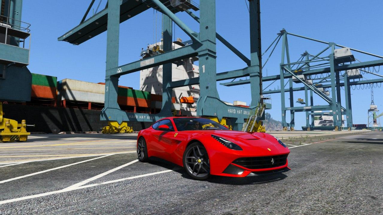 2013 Ferrari F12 Berlinetta для GTA V - Скриншот 1