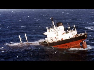Катастрофы на море, жуткие аварии и гибель кораблей видео