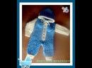 Комбинезон для малыша спицами Часть 1 Jumpsuit for baby knitting