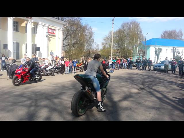 Самый громкий мото выхлоп г.Вязьма 27.04.14