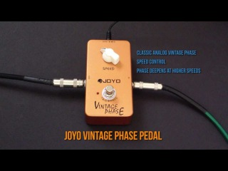 Joyo Vintage Phase / Phaser JF-06 Pedal Review Demo