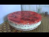 торт - суфле с клубникой  торт без выпечки