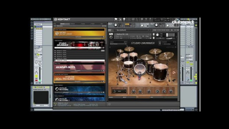 NI's Komplete 8 Tutorial Studio Drummer New Drum Kits Effects EQ