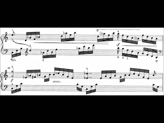 Bedřich Smetana - Concert Etude in G-sharp minor Op. 17 (audio sheet music)