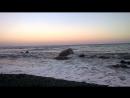 Закат. Шторм. Дикий пляж. 21.08.2015