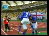 Легендарный гол Роналдиньо в ворота Дэвида Симена в матче 1/4 финала Бразилия - Англия на Чемпионате мира 2002 года