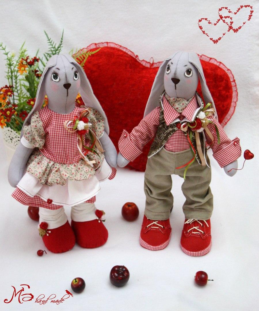 валентинка зайчики